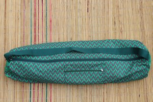 Emerald Zigzag Yoga Mat Bag