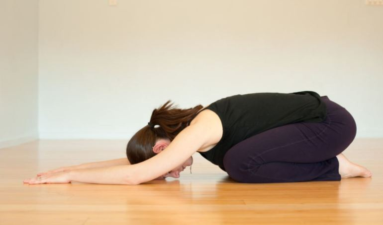 Shishuasana (Child Pose) - Surya Namaskar (Sun Salutation)