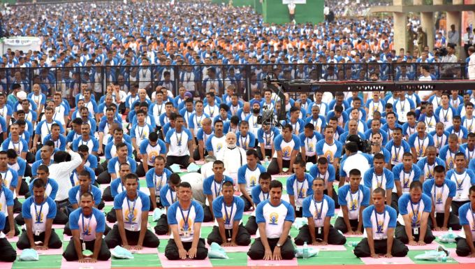 International Yoga Day - Capitol Complex, Chandigarh