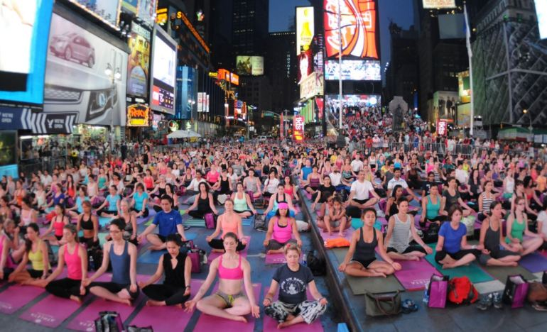 International Yoga Day - Times Square, New York