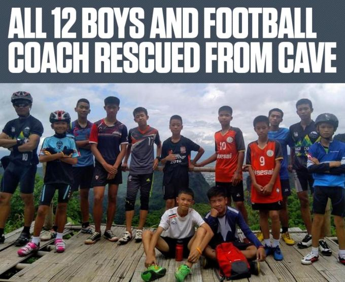 12 Thai Boys Trapped In Cave