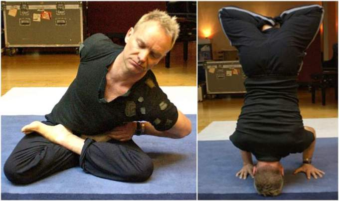 Sting Doing Yoga