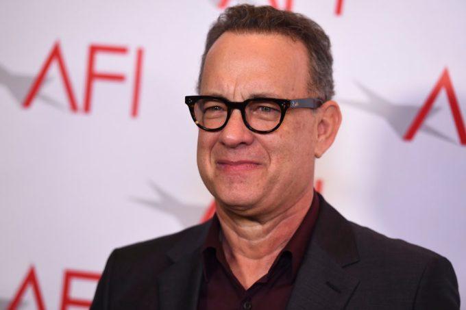 Tom Hanks Doing yoga and meditation