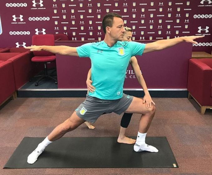 John Terry Doing Yoga