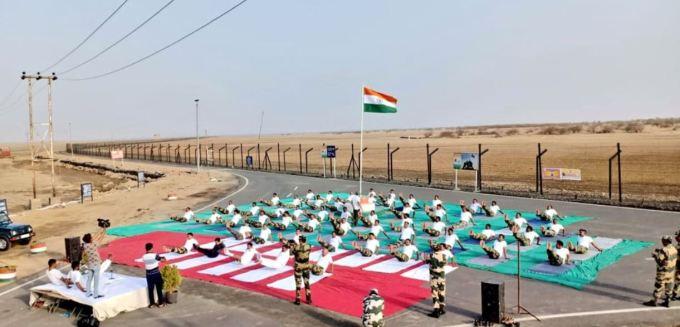 Yoga Sessions at India-Pakistan Border
