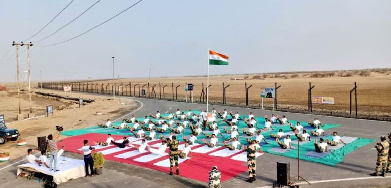 Yoga Sessions at India-Pakistan Border