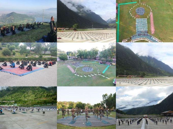 Indian Army Celebrating Yoga Day