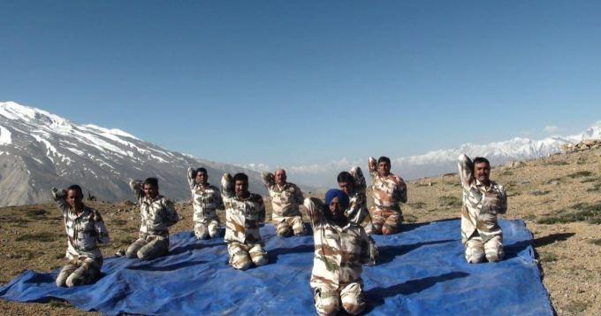 Yoga Day at Indo-China border