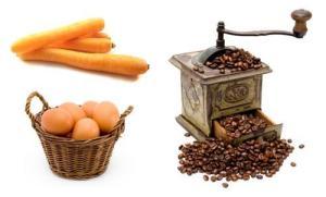 carotte oeuf café