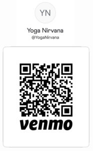 QR code that can be scanned to phone - Venmo payment to Yoga Nirvana Studio