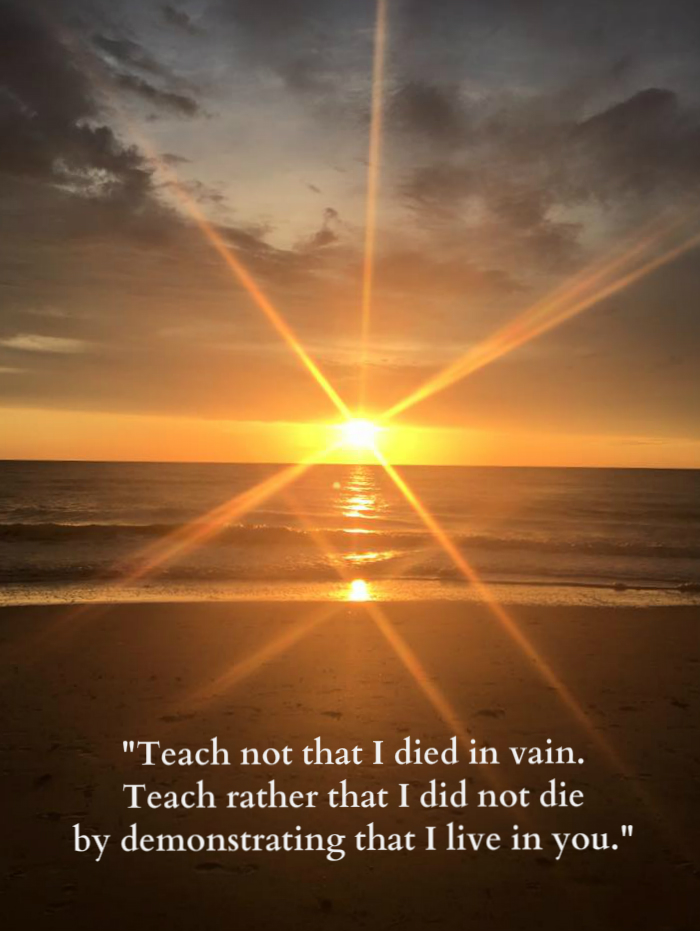 teach not that i died in vain