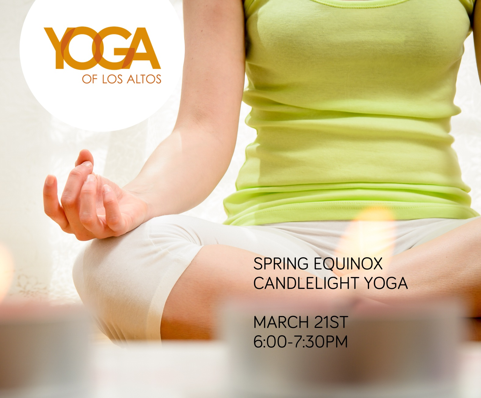 Yoga of Los Altos - Spring equinox candlelight yoga workshop with Rebecca Snowball