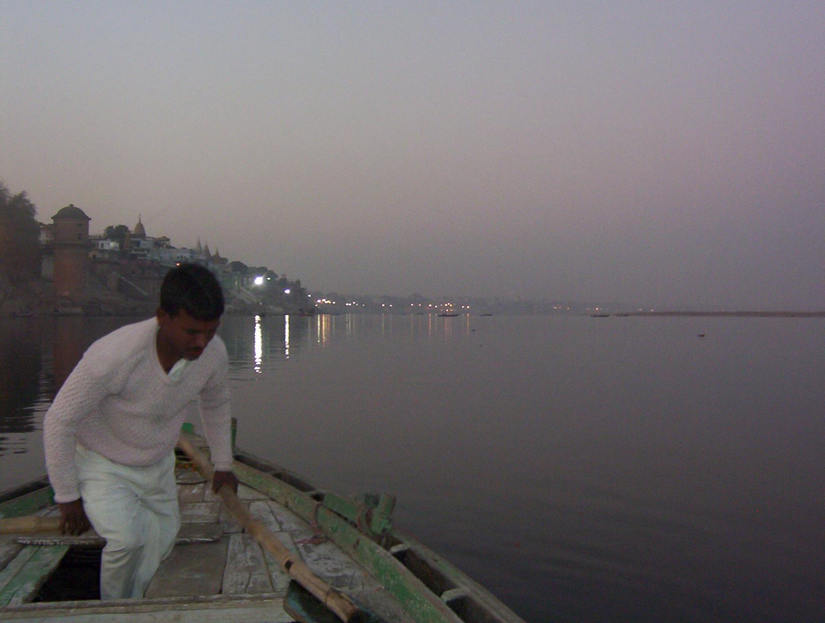 On the Ganga at twilight