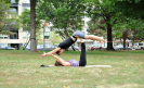 Therapeutic AcroYoga in the park