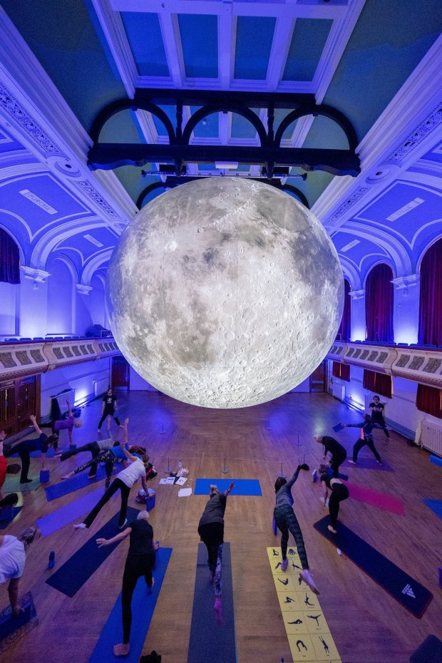 Museum of the moon pop-up Wirral Yoga Yogasmiths