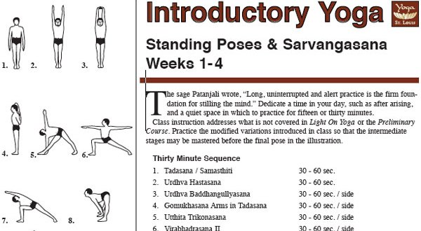 Intro Iyengar Yoga Sequence Yoga St Louis