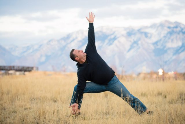 I practice yoga for a healthy and happy life.