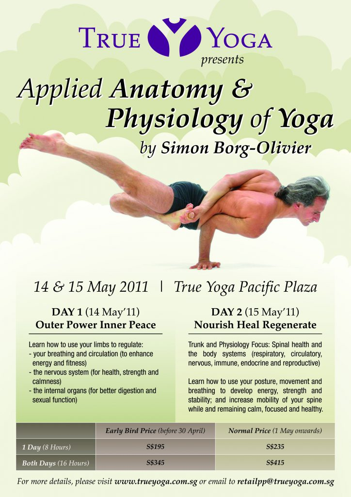 Simon Borg-Olivier Yoga Anatomy Workshop Singapore May 2011