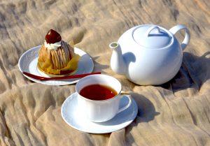 栗の香りと和紅茶で和む秋。