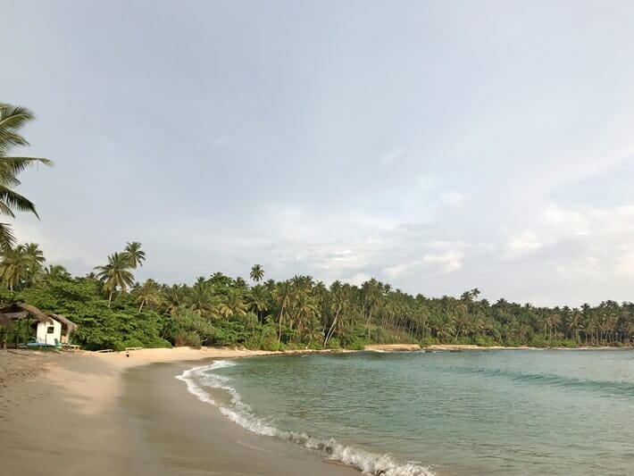 Beaches in south coast of Sri Lanka