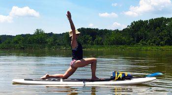 SUP Yoga with Angelina Fox, ERYT200, RYT500, YACEP, 2019 at Lake Anna Virginia