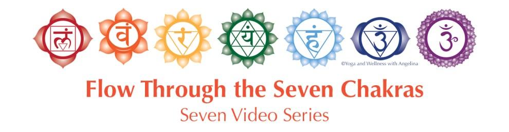 Flow Through the Seven Chakras Video Series with Angelina Fox, ERYT 500, YACEP, Ayurveda Health Counselor, Washington DC, Northern Virginia, Alexandria, Virginia