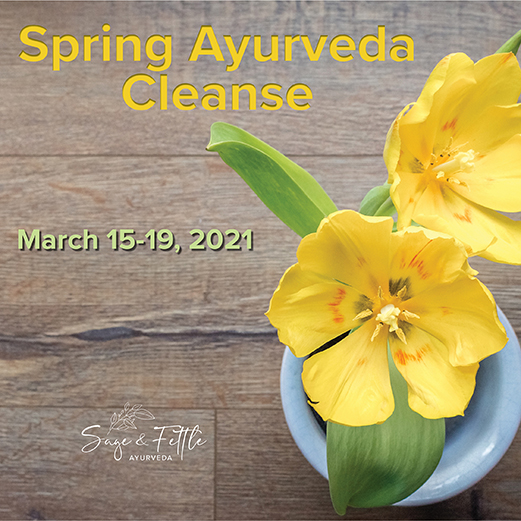 Ayurveda Spring Cleanse with Sage & Fettle Ayurveda March 15-19, 2021