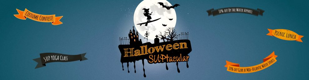 Halloween SUPtacular Yoga Class October 23 at 11:30am with Yoga and Wellness with Angelina Fox, LLC Yoga Teacher, Ayurveda Health Counselor, ERYT500, YACEP Event Featured Page Image