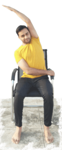 Seated Cross Side Stretch - Yoga with Ankush