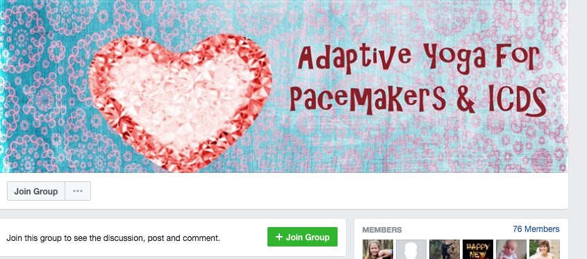 Facebook Group for Yoga Practitioners with Pacemakers/ICDs.  Yoga for Healthy Aging Blog post.