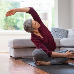 yoga for over 40's online with Zoe