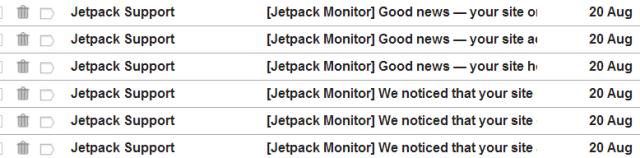 JetPack Site down notice