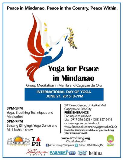 Yoga for Peace in Mindanao