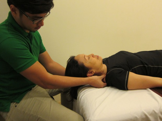 Releasing shoulder tightness and tension