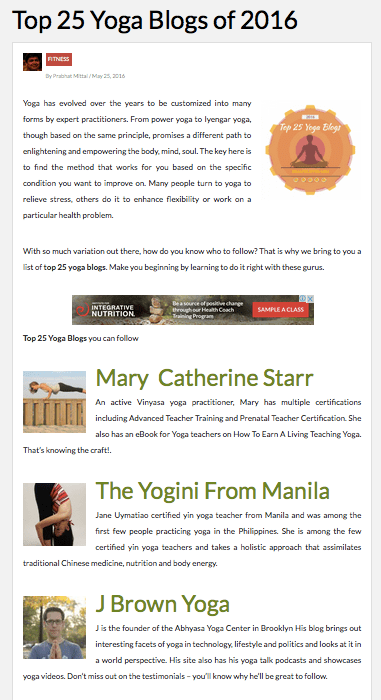 Top 25 yoga blogs of 2016-healthlisted