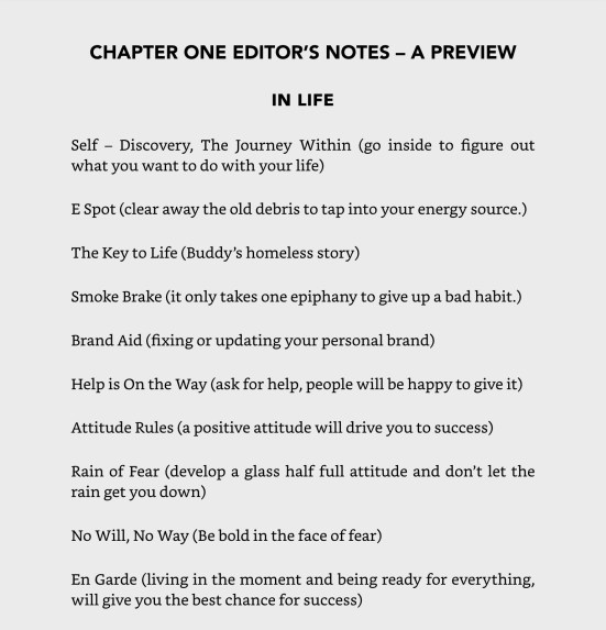Chapter 1 Editor Notes