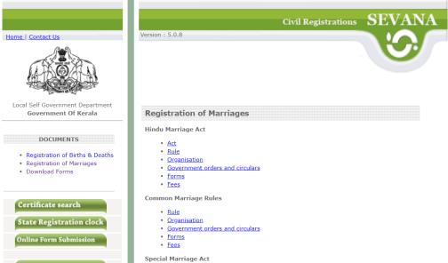 Kerala Marriage Registration Form pdf 2020-21