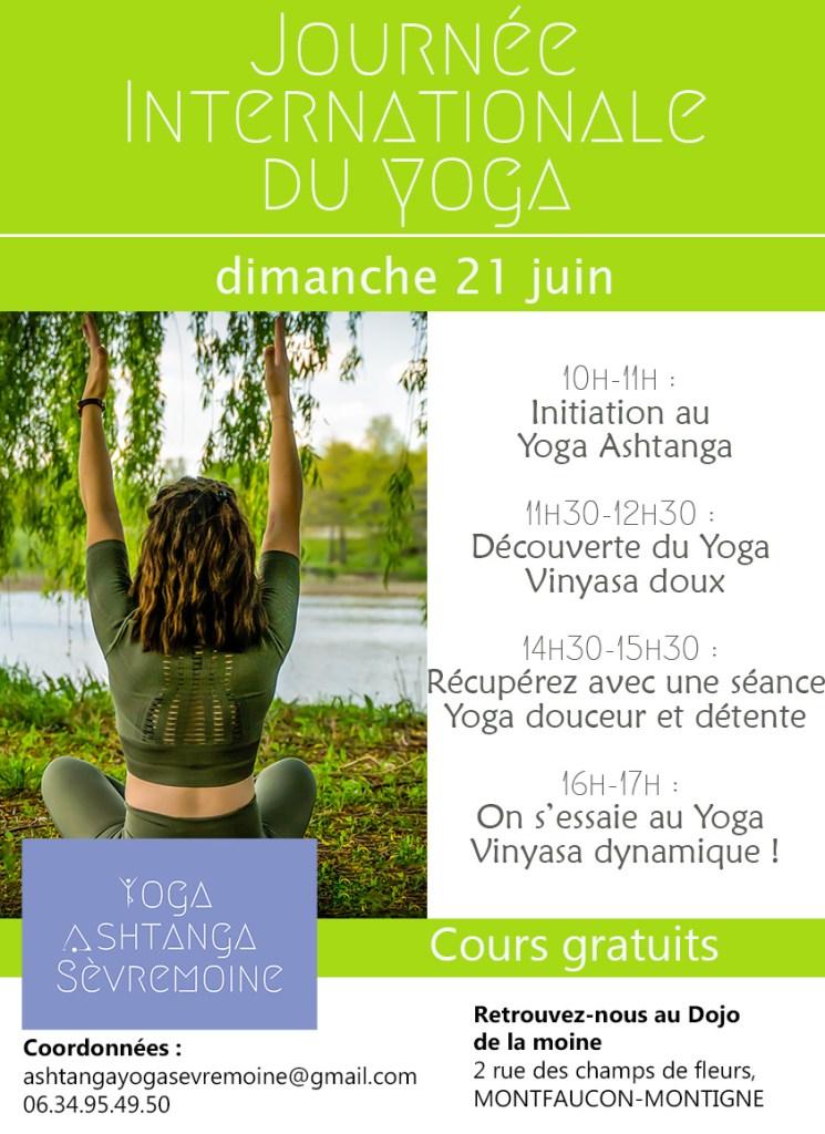 Retrouvez-moi pour une journée consacrée au Yoga à Montfaucon-Montigné dimanche 21 juin 2020 !