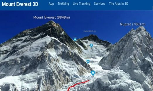 Most amazing website: Everest 3D