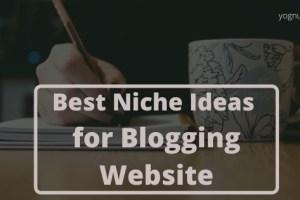 Top 10 Best Niche Ideas for Blogging Website