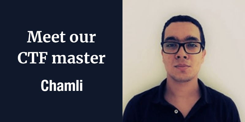 Meet our CTF master – Chamli