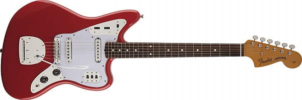 Fender Classic Player Jaguar Rosewood Fingerboard Fiesta Solid-Body Electric Guitar with Hard Case