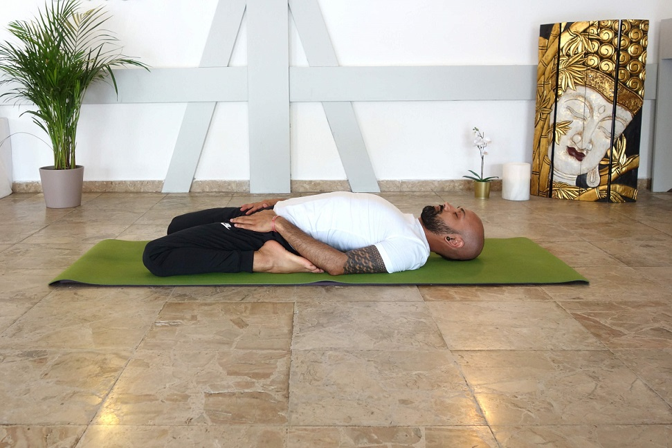 suptavajrasana yogtemple - Yoga Asana Glossary