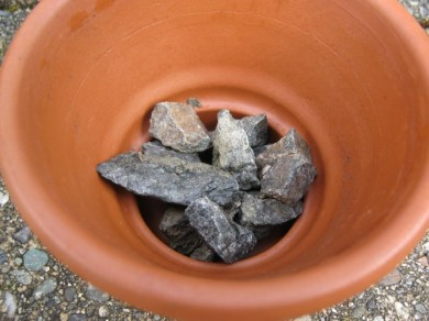 drainage for potted plants