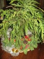 evergreen in mason jars
