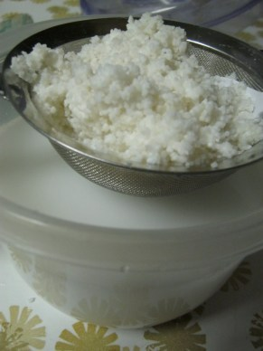 white rice milk