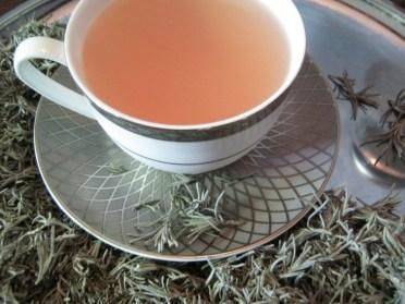 red clover, lavender, lemon tea