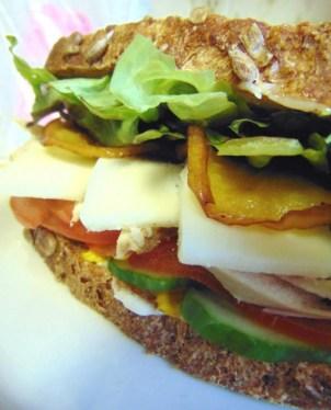 carrot sourdough fried apple sandwich