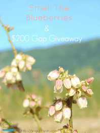 Slow Down, Smell The Blueberries & Enter to Win Our $200 Gap Gift Card Giveaway