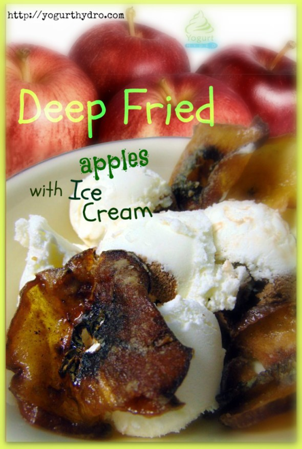 Deep Fried Apples with Ice Cream